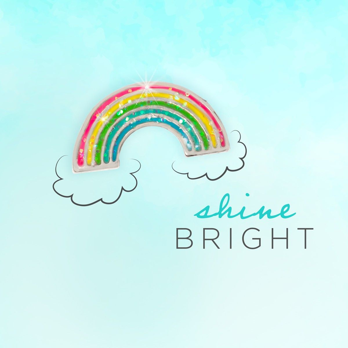 Photo of Shine Bright! Rainbow Glitter Charm