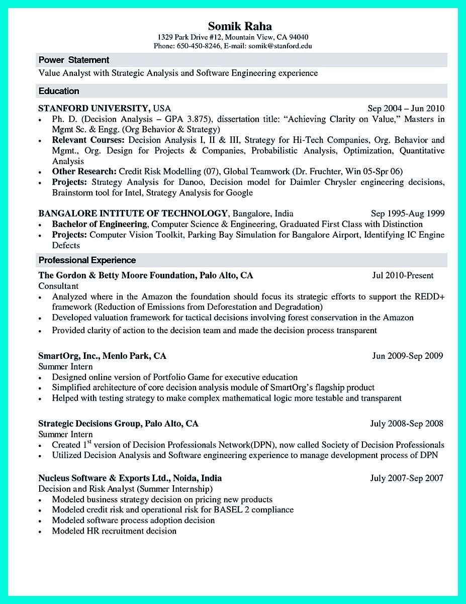 Sample Computer Science Resume Comfortable The Best Puter Science