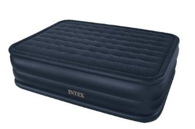 Amazon.com: Intex Raised Downy Queen Airbed with Built-in Electric Pump: Sports & Outdoors