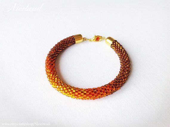 Bead Crochet Bracelet Crochet Bead Rope Beaded Rope Rope Color