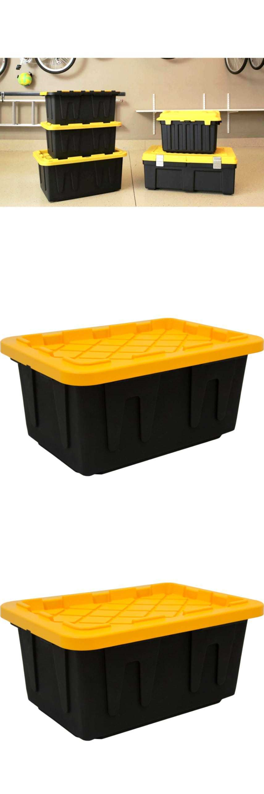 Storage boxes gallon tough tote heavy duty storage