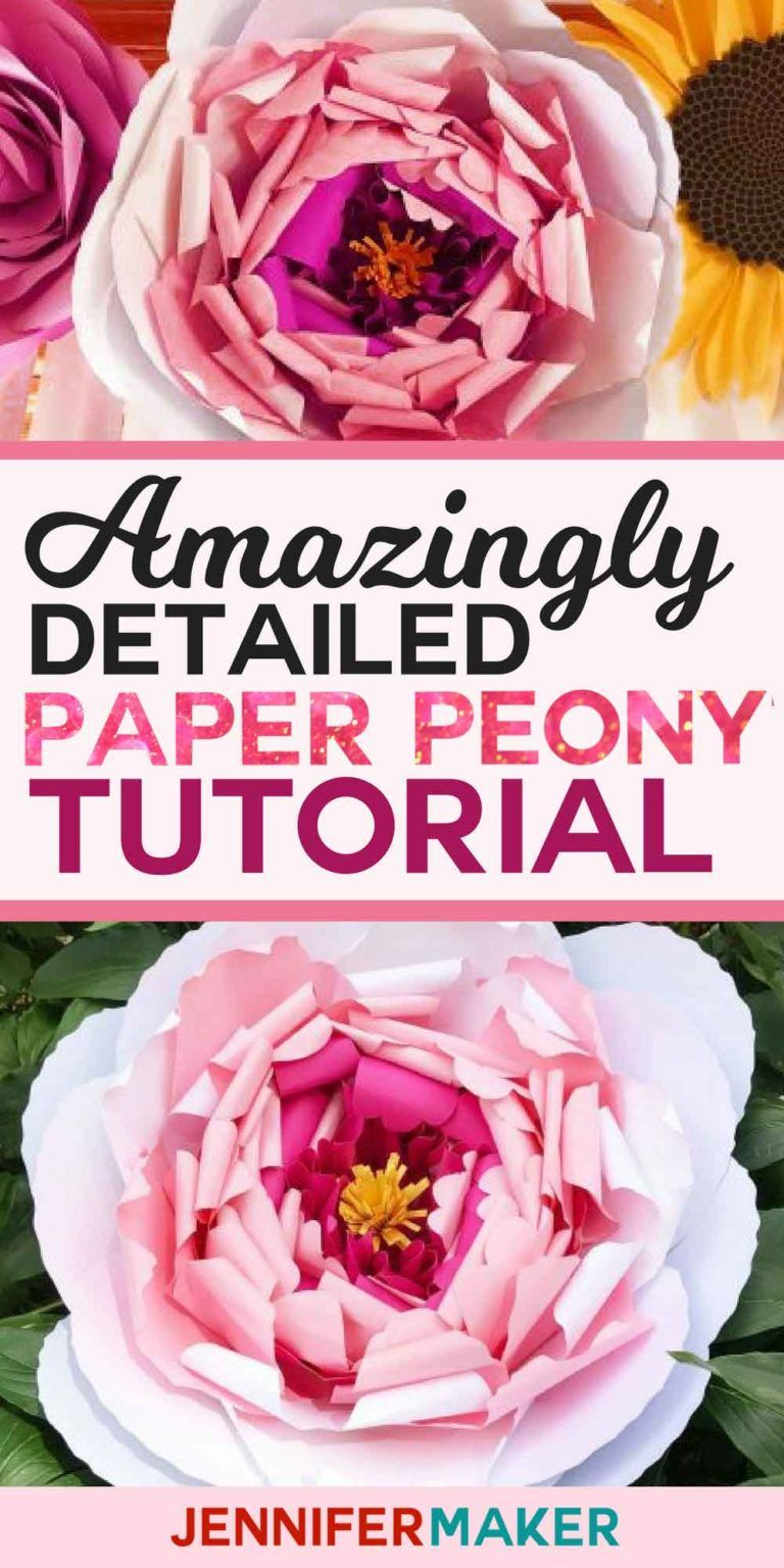 Giant Paper Peony Tutorial with Amazing Detail Jennifer