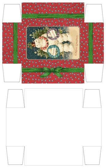 Miniature Diy Printable Christmas Gift Boxes Christmas Gift Box Christmas Printables Miniature Christmas