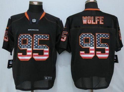 a54bc06a0 Nfl JerseysAqib TalibDenver BroncosJordan ShoesNike Mens Denver Broncos 95  Derek Wolfe Lights Out Black Ornamented NFL Nike Elite Jersey ...