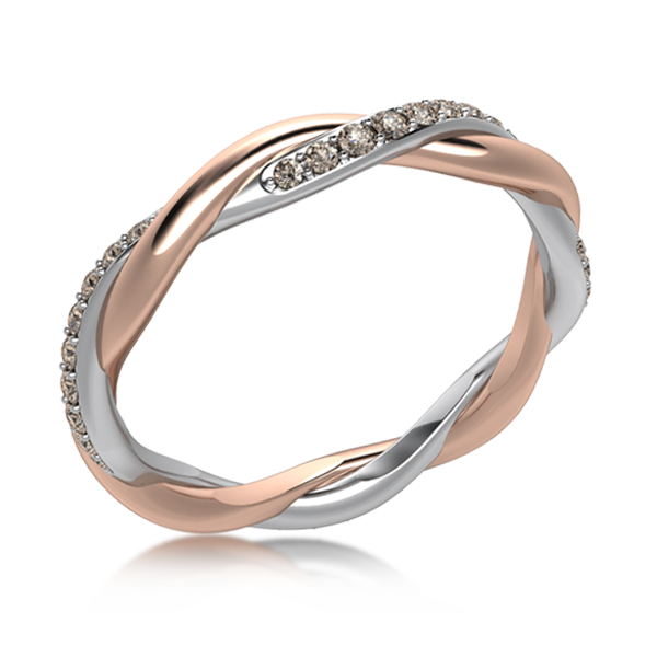 This Gorgeous Two Tone Twisted Wedding Band Is Hand Crafted From The Two Different Metals Of Your Ch Twist Wedding Band Buy Wedding Rings Diamond Wedding Bands