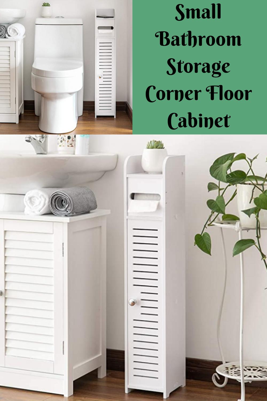 Small Bathroom Storage Corner Floor Cabinet With Doors And Shelves Thin Toilet Vanity Cabinet Small Bathroom Storage Towel Storage Bathroom Storage