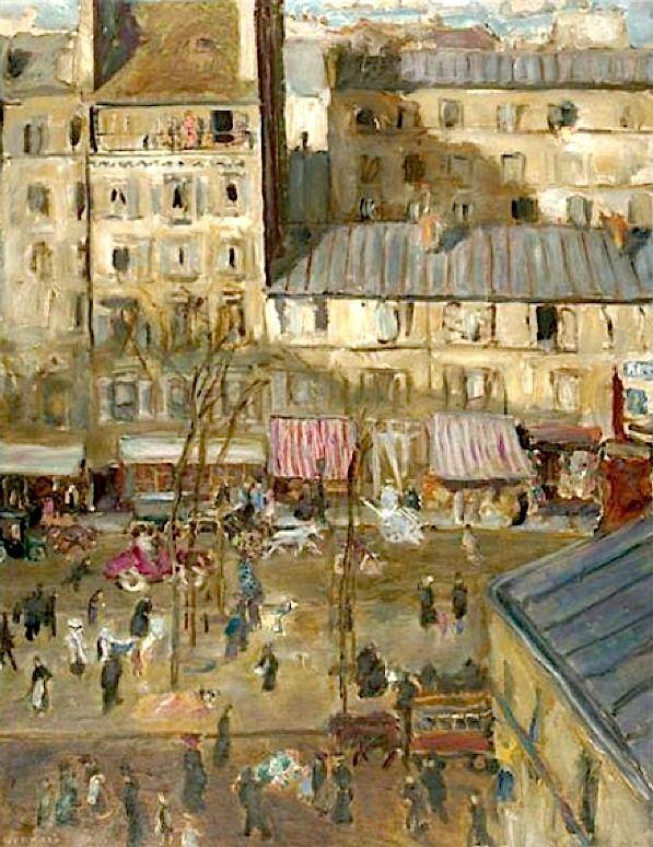 Le Boulevard Extérieur/ Boulevard de Clichy et Angle de la Rue De Douai by Pierre Bonnard