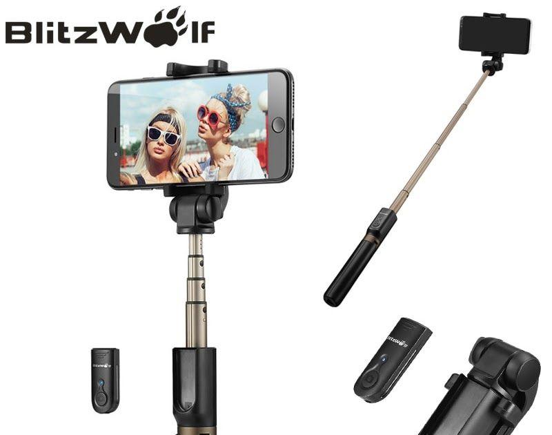 Sale Blitzwolf Bw Bs3 3 In 1 Wireless Bluetooth Selfie Stick