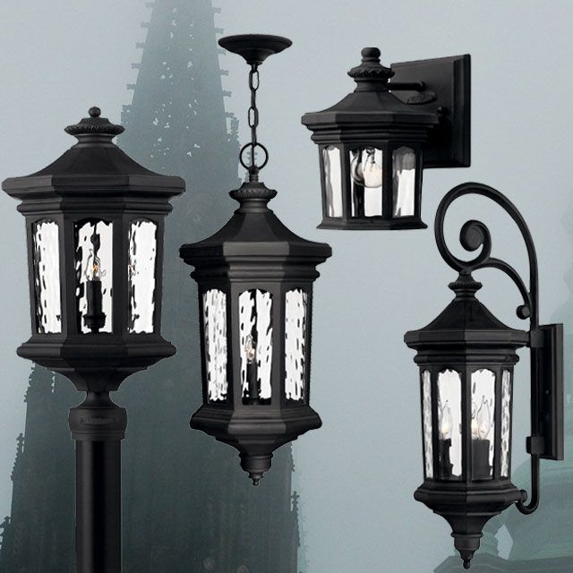 Museum Black Vintage Outdoor Lights By Hinkley Traditional