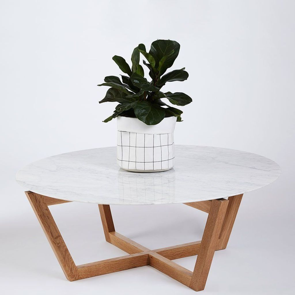 30 stylish white coffee table ideas round wood coffee