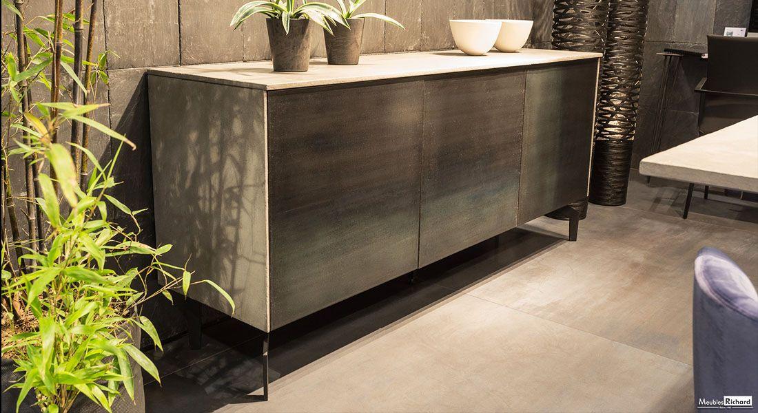 Buffet Style Industriel Metal Et Ceramique