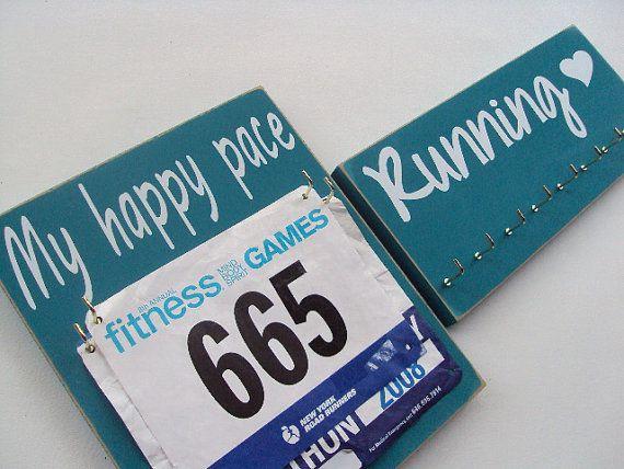 running: Running medals holder rack by runningonthewall on Etsy