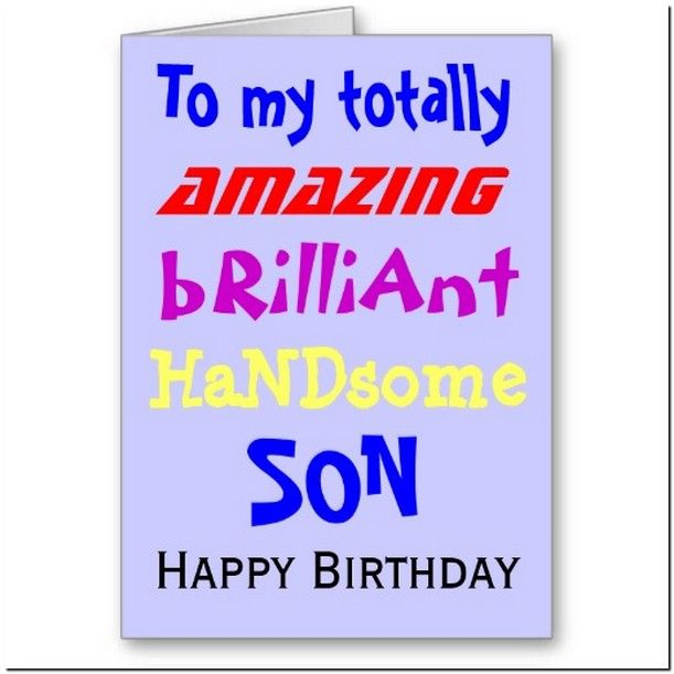 Happy Birthday For Son From Mom Google Search Birthday Cards