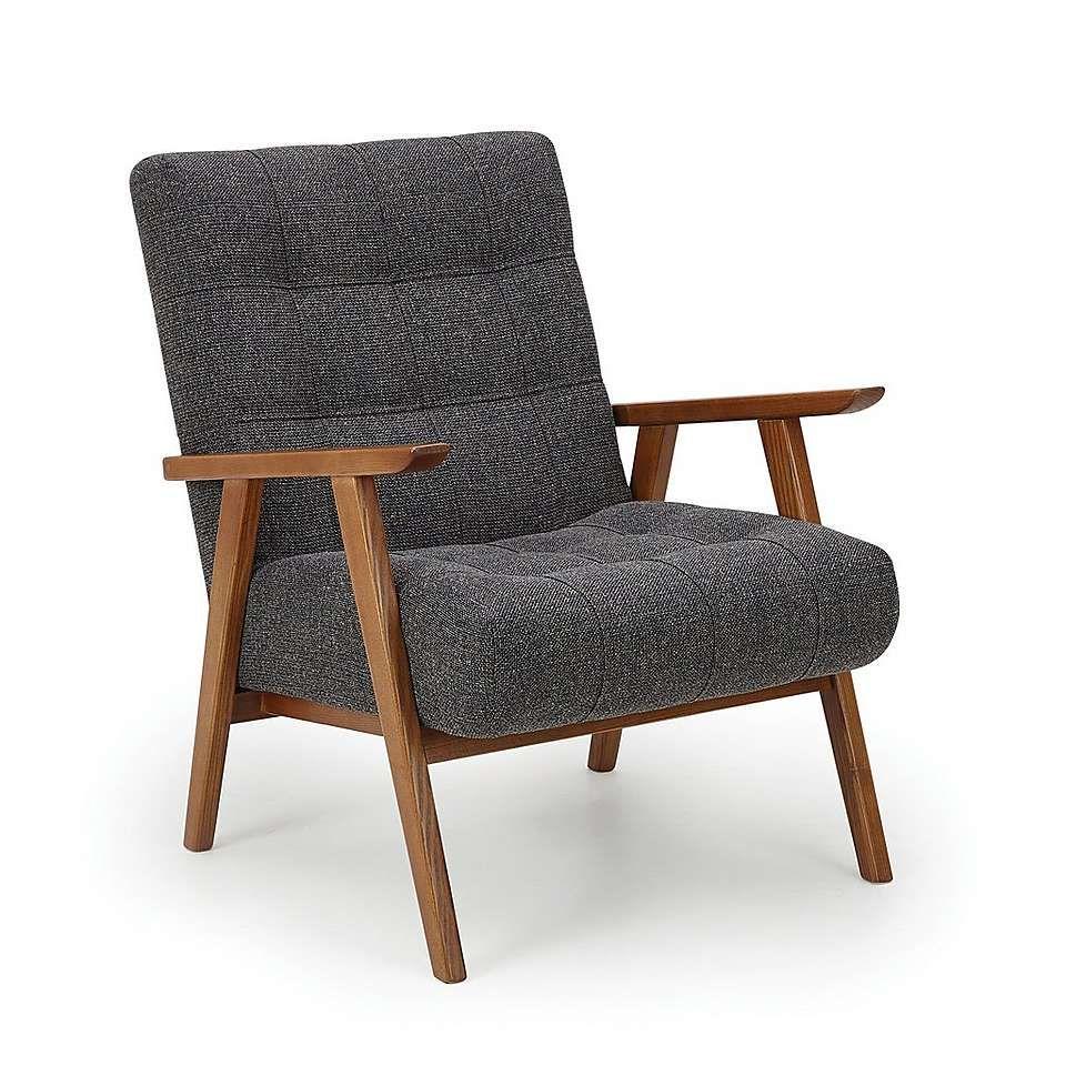 Arkin wooden frame accent chair grey dunelm accent