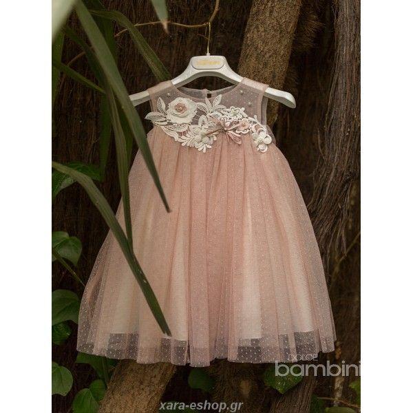 c7702767327 Υπέροχο φορεματάκι βάπτισης για την μικρή σας πριγκίπισσα που θα σας  ενθουσιάσει . Βαπτιστικό ρούχο σε