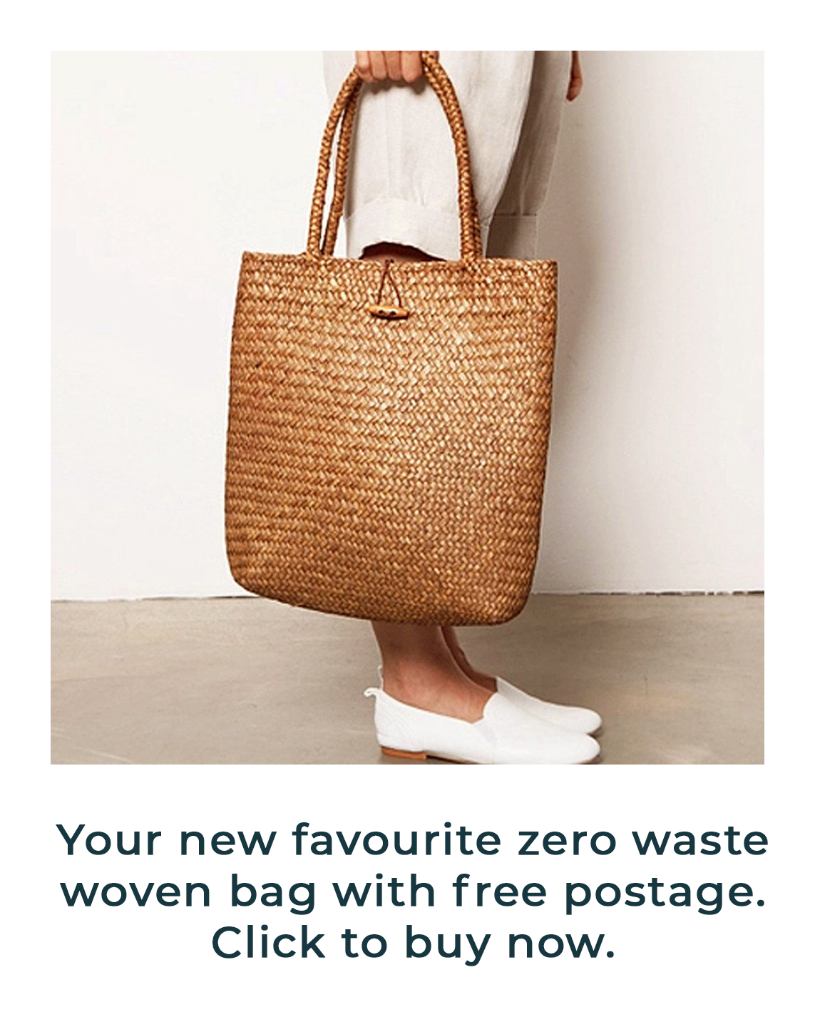 a46d793b0b This modern woven bag is not only a BARGAIN but they're seriously ...
