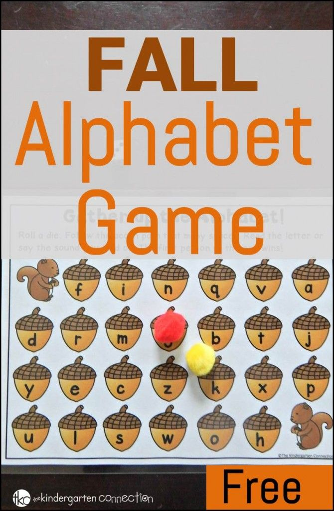 Free Fall Alphabet Game Alphabet games for kindergarten