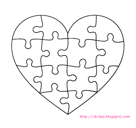 puzzle of life free heart shaped puzzle template heart png