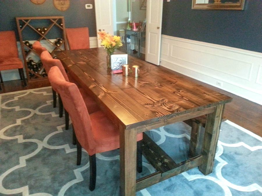 Merveilleux Farmhouse Table   8u0027 Farmhouse Style Table With Stretchers. Great Dining  Room Colors And