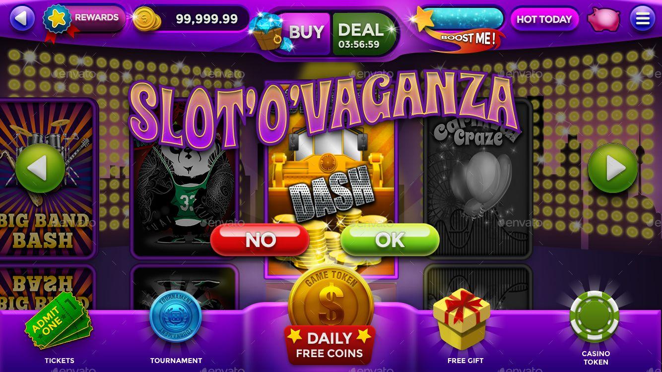 """Slot """"O"""" Vaganza Slot Game HUD Animated Assets Ad"""