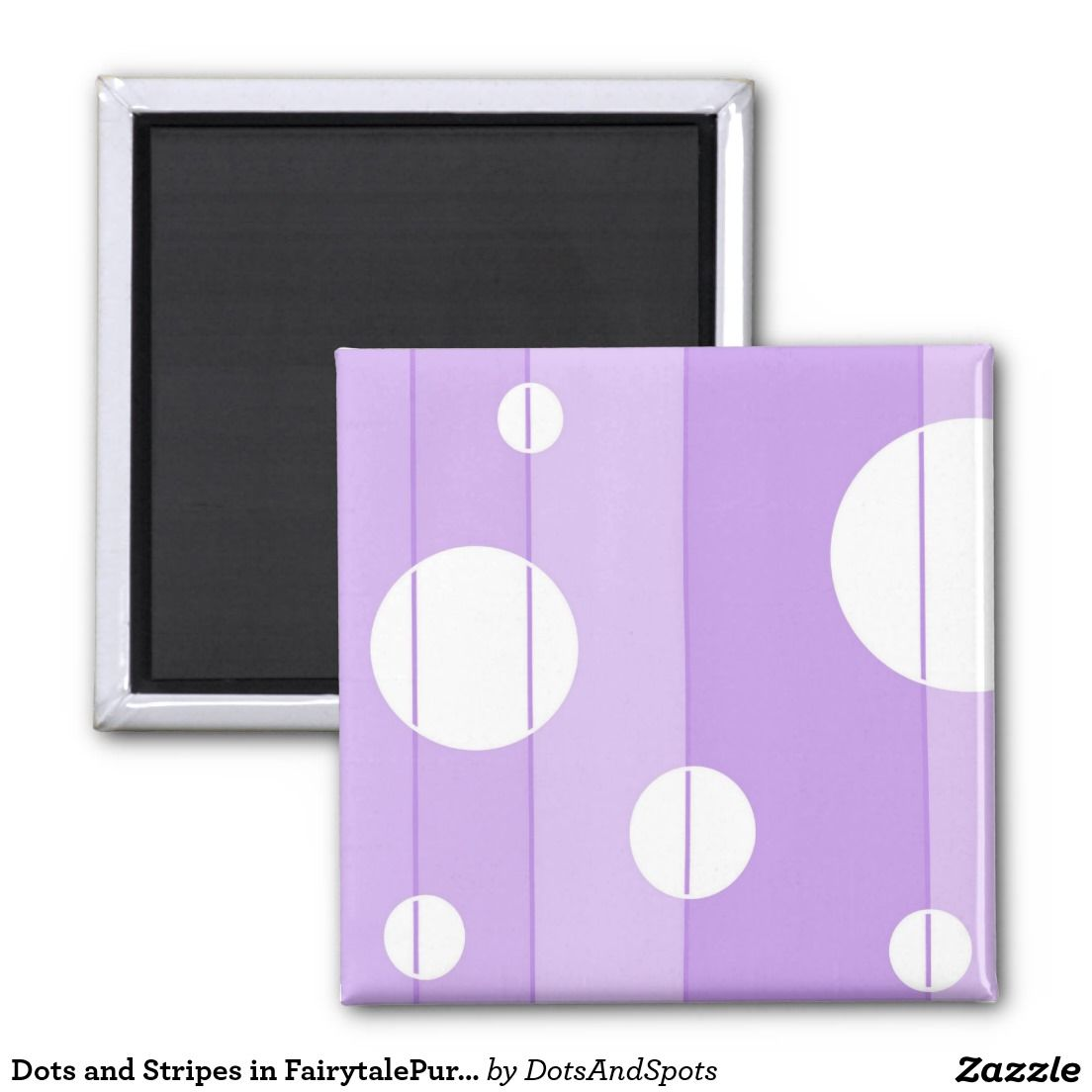 Dots and Stripes in FairytalePurple Magnet