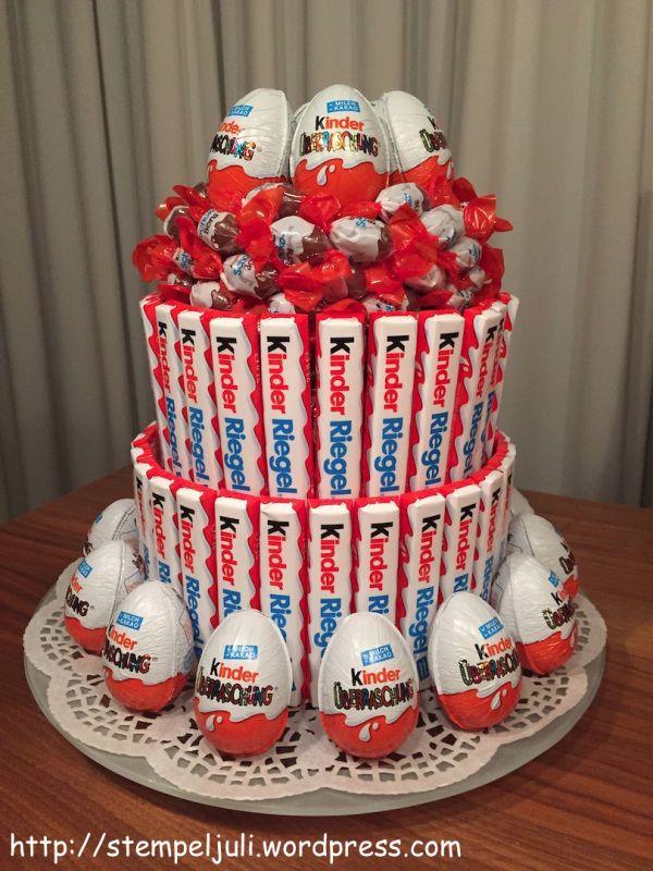 Anleitung U Eier Kinderriegel Schokobons Torte Geschenk Geburtstag Funny Gifts Gift Baskets Diet