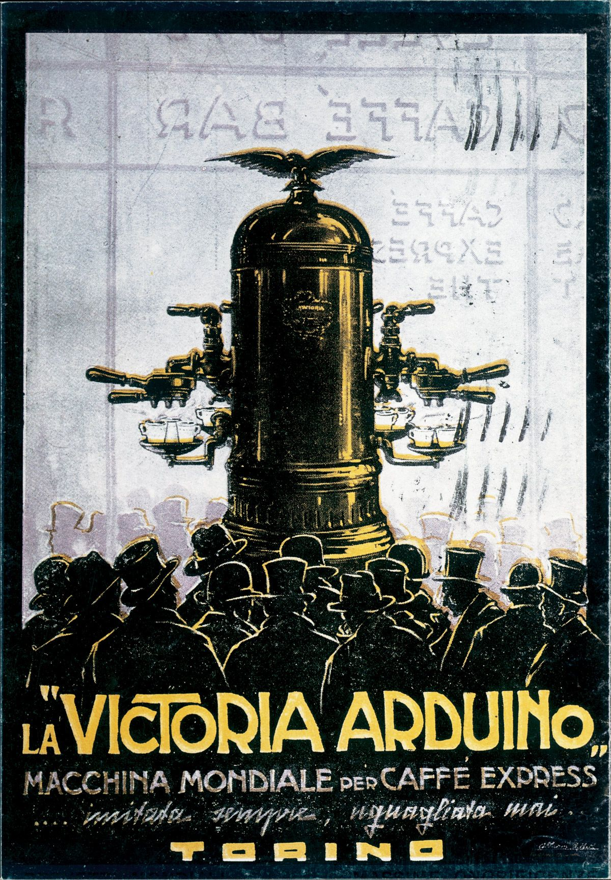 Victoria arduino historical poster coffee cafe