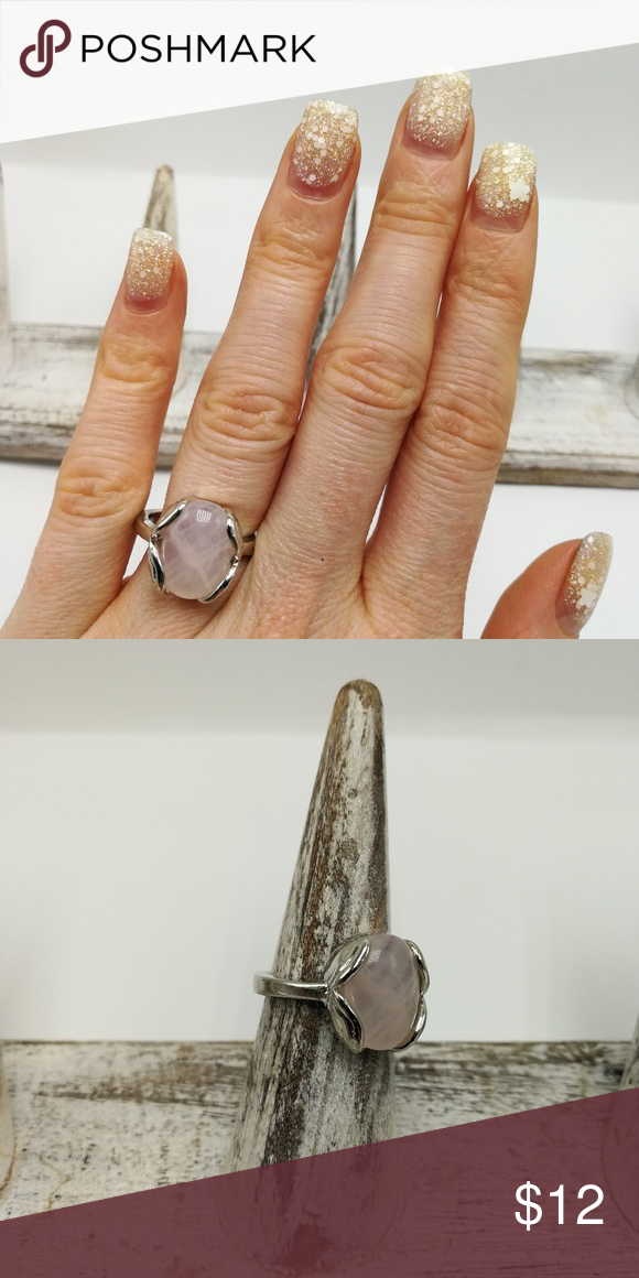 Rose quartz heal protect crystal silver gemstone New with Tags. Gorgeous Natural Gemstone Silver High Quality Electro-Plated ring. No trades or holds. Price is firm. R#2368 Rose Quartz Urban Outfitters Jewelry Rings