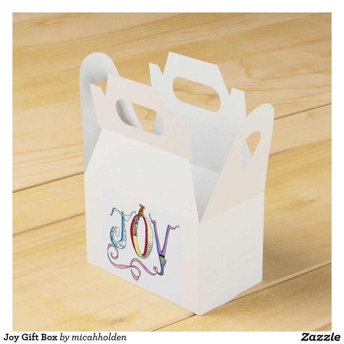 Joy Gift Box Party Favor Boxes | Micah Holden Art | Pinterest