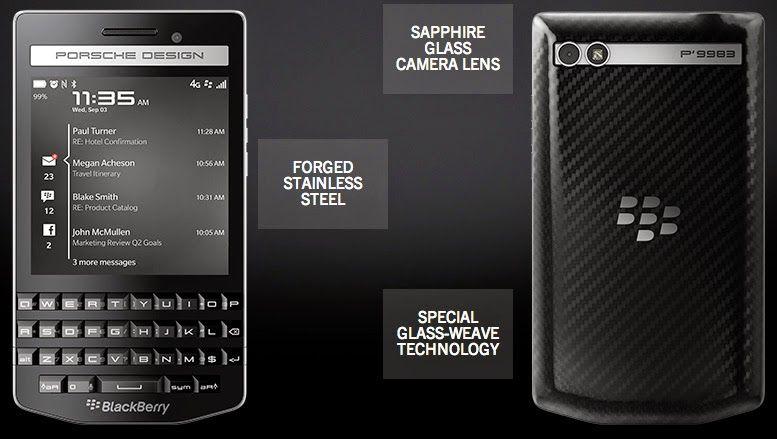 Harga Dan Spesifikasi Blackberry P9983 Porsche Design