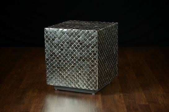 Fishscale Tikra Mirror Cube Side Table Also Available As