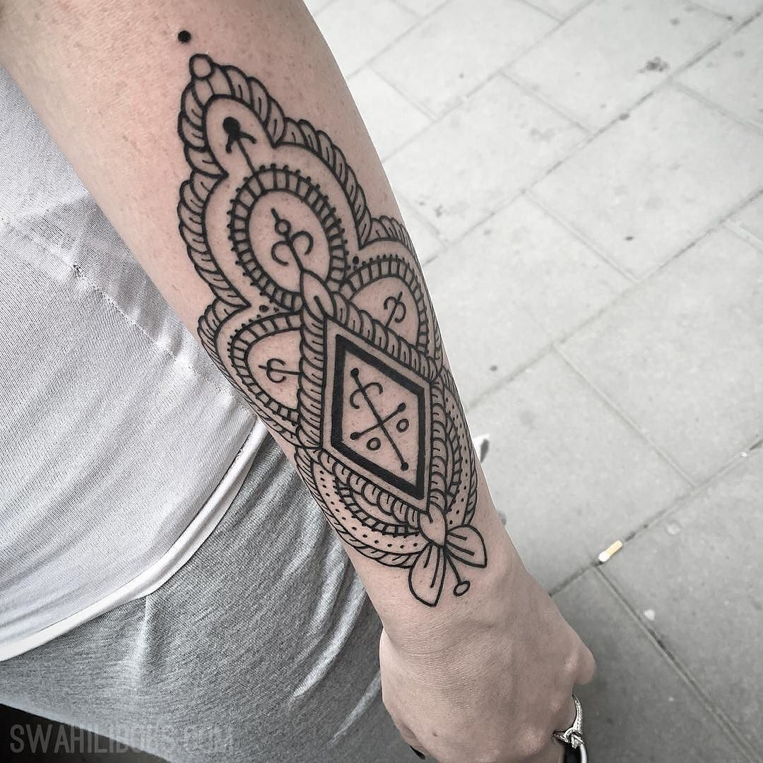 0545854e5 Geometric pattern by Gustavo @xvianix #tattoos #tattoo #pattern #blackwork  #södermalm #stockholm #sofo