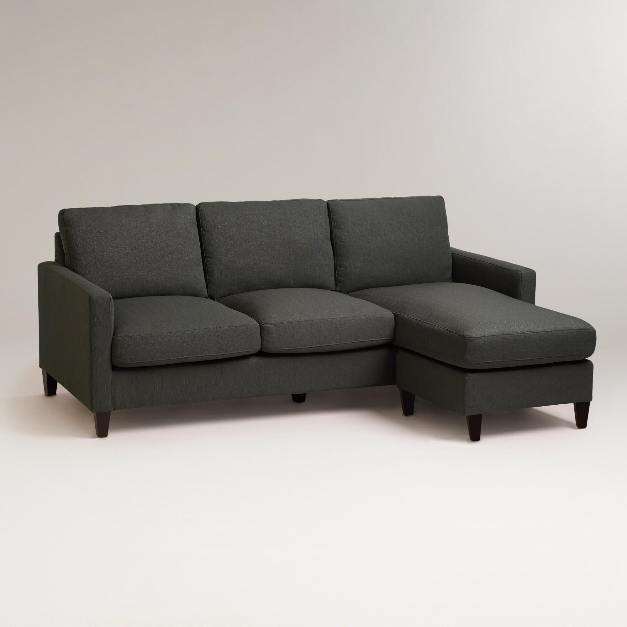 Our Charcoal Abbott Sofa Comes With A Chaise Frame That Can Be Positioned On Either Side