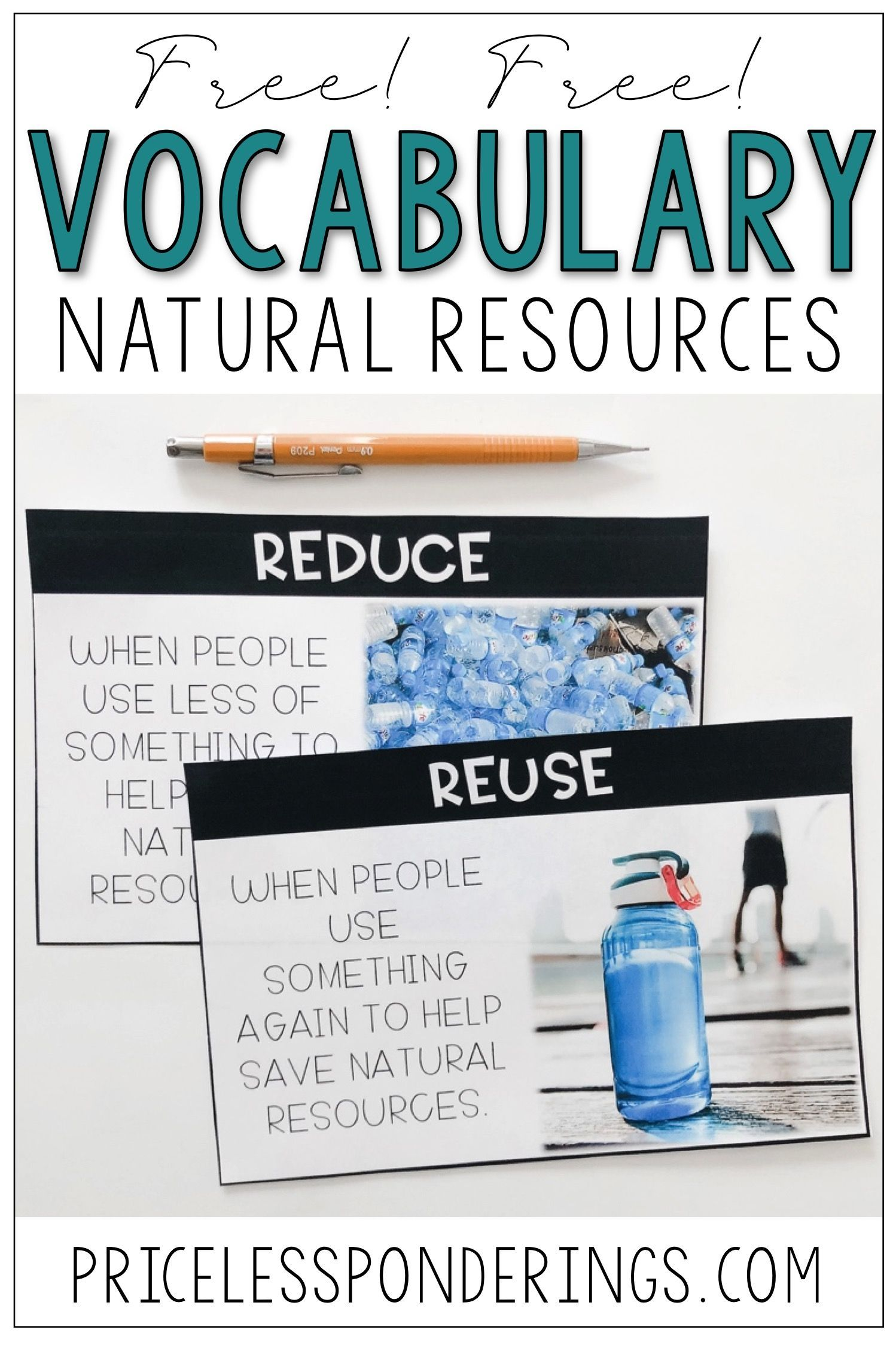 Free Natural Resources Worksheets And Vocabulary Cards To