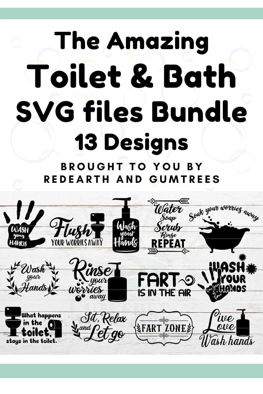 Toilet quotes bundle,shower quotes,funny bathroom quotes bundle svg, wash your hands, toilet humour