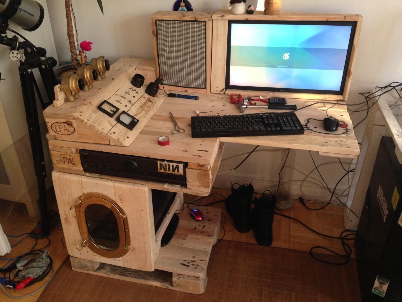 Apple schreibtisch bauen  Steampunk-Schreibtisch mit Tor-Server, Teil 1 fertiggestellt | mod ...