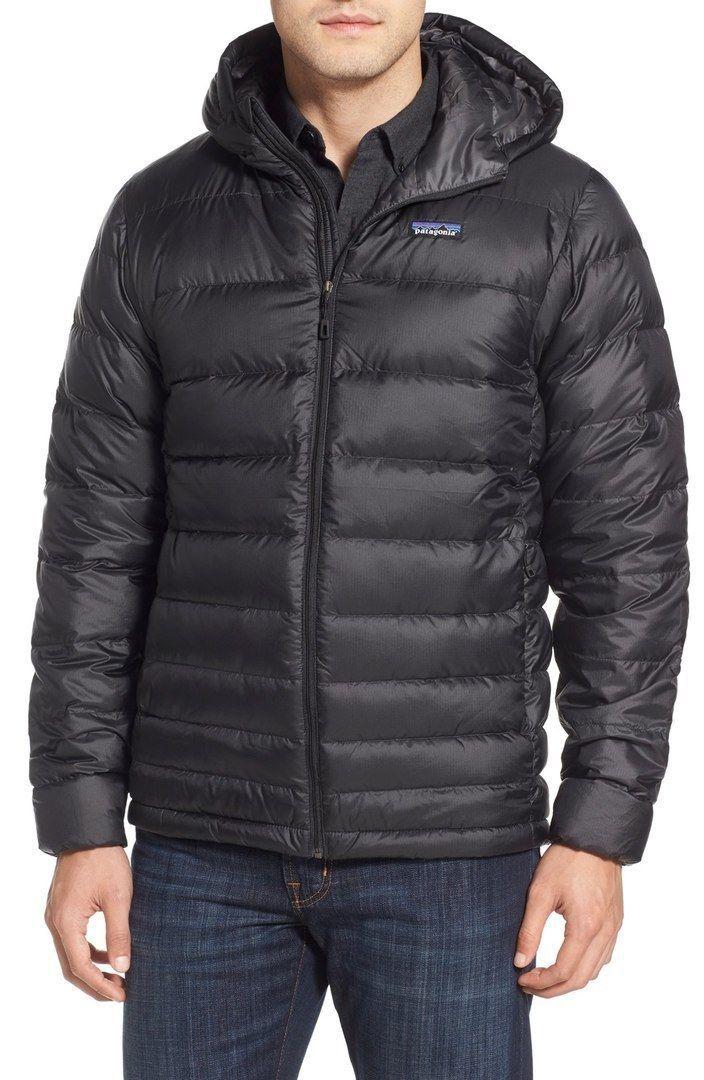 NEW Mens Black Patagonia Down Sweater Hoody Puffer Jacket
