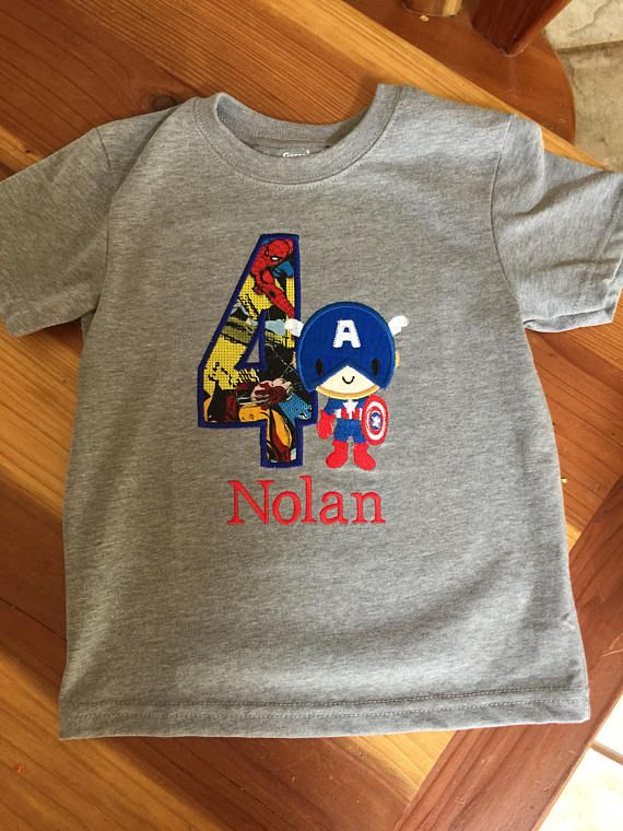 Captain America Avengers Birthday shirt personalized embroidery and ... eea5417e0ba