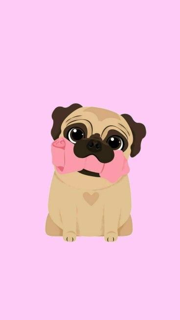 Kawaii Pug Dogs Pinterest Pugs Wallpaper And Draw