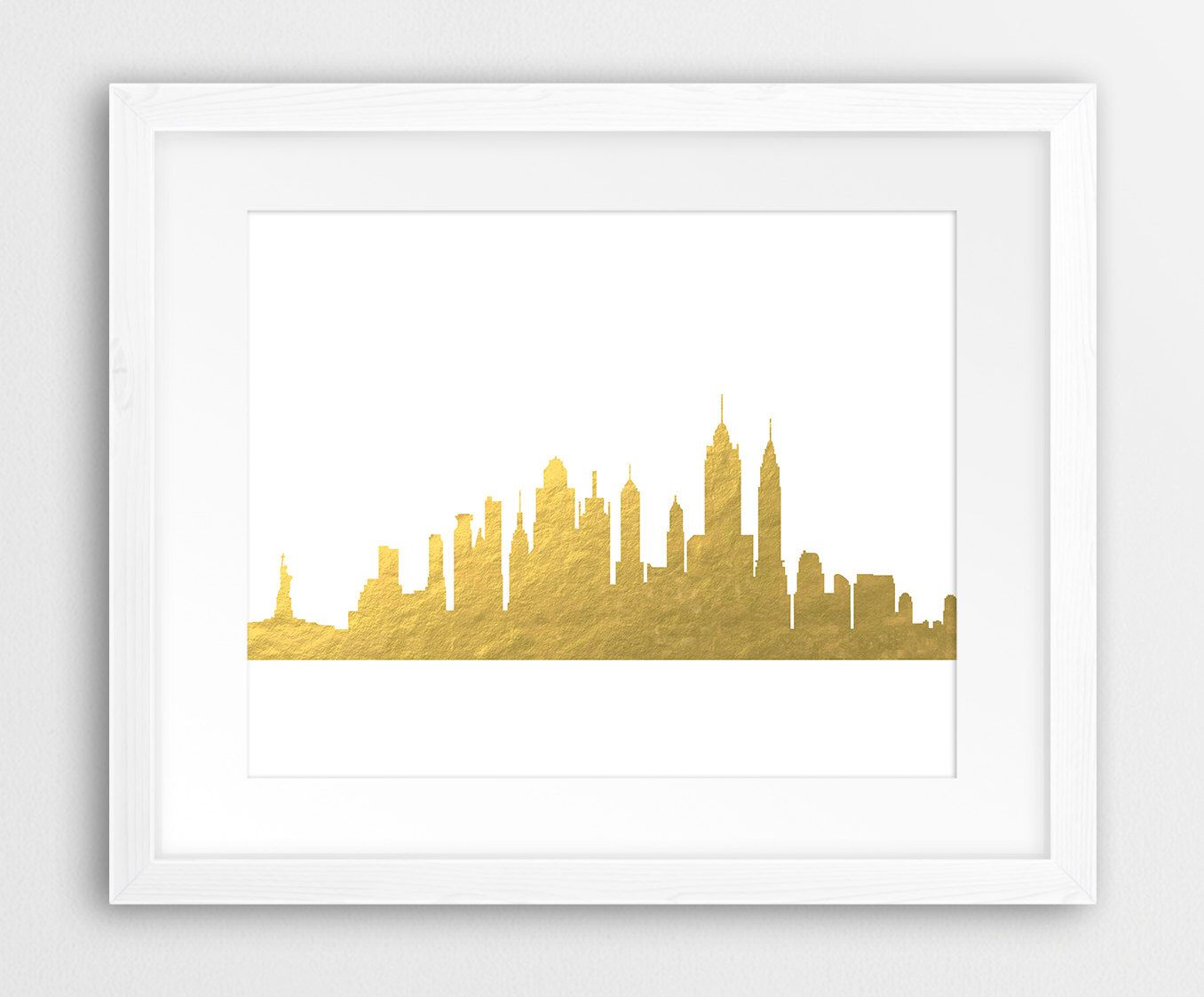 New York Print, New York Wall Art, New York Skyline, New York City ...