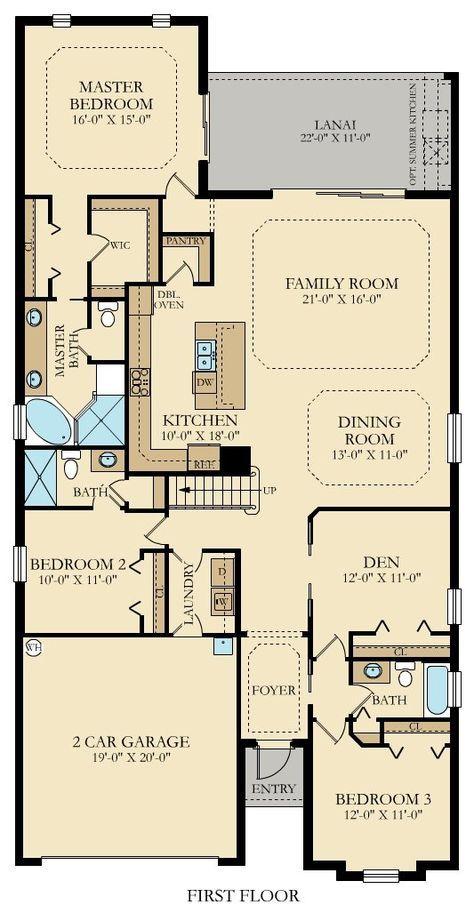 Floorplan Of Catalina Ground Floor Bungalow Floor Plans House Blueprints Cottage House Plans