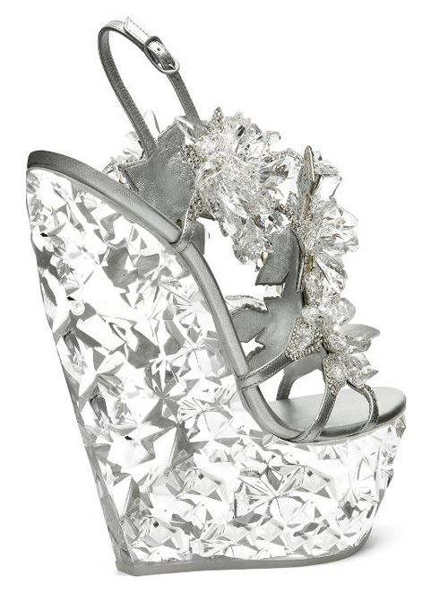 45247aa0d Exclusive collaboration  Casadei   Swarovski Crystal Wedges Spring 2013   shoes  OMG