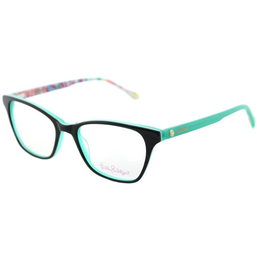 Lilly Pulitzer Rectangle Sydney GN Womens Frame Eyeglasses ...
