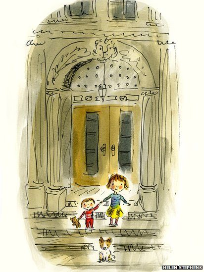 CHILDREN'S ILLUSTRATION. I'm such a big fan of watercolor and pen and ink. What a great drawing.