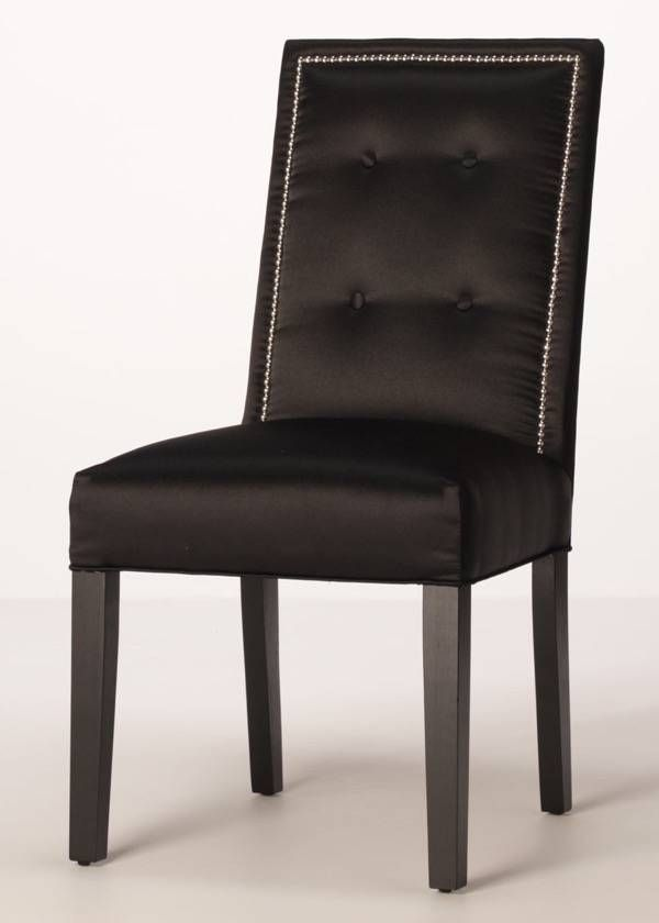 A Sophisticated Dining Chair With Inset Nailhead Trim And Button Back Topped Off Tapered Finished Legs Save Over By Buying Direct