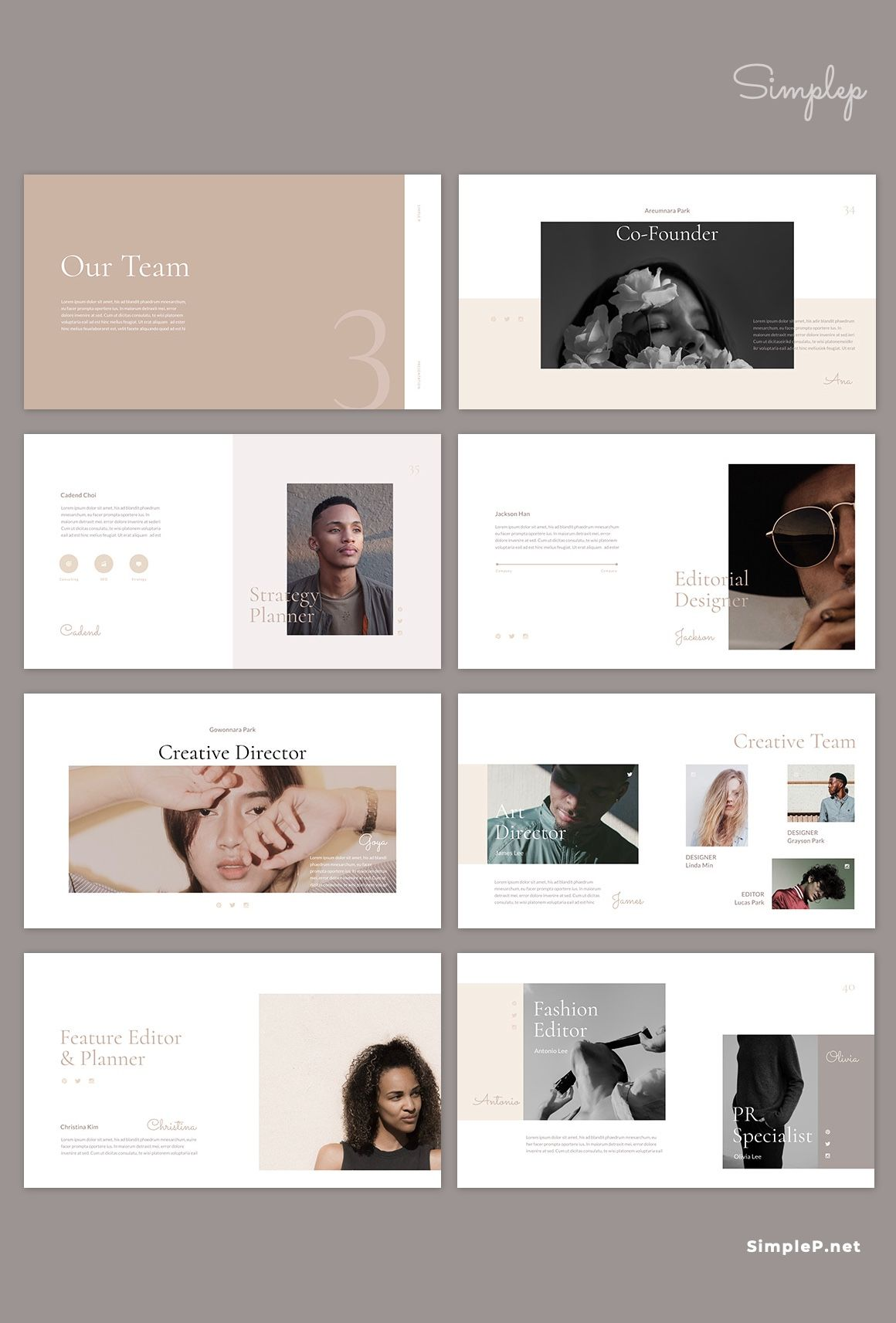 ✨Neutral✨ PowerPoint Template is a gorgeous presentation to show your project & ideas. #ppt #powerpoint #presentation #template #project #business #about #strategy #layout #simplep #neutral #beige #AD #powerpoint