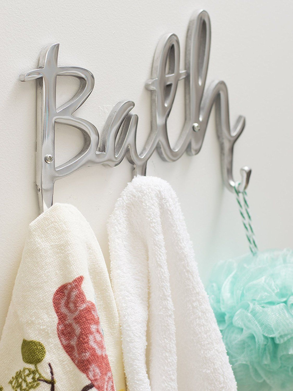. Contemporary Style Bath Hook Rack in 2019   Wall Hooks   Towel