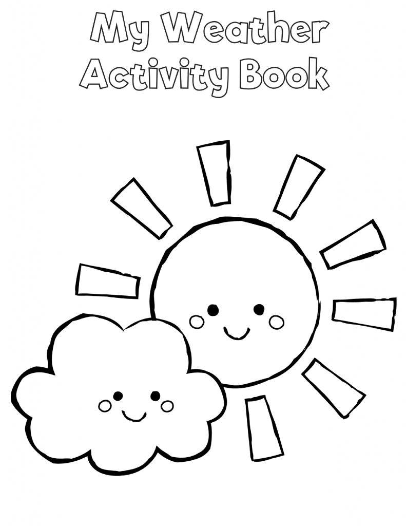 Free Preschool Weather Activity Book Weather activities