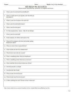 A Tale Of Two Classrooms This Or That Questions Student Interest Survey Elementary Worksheets