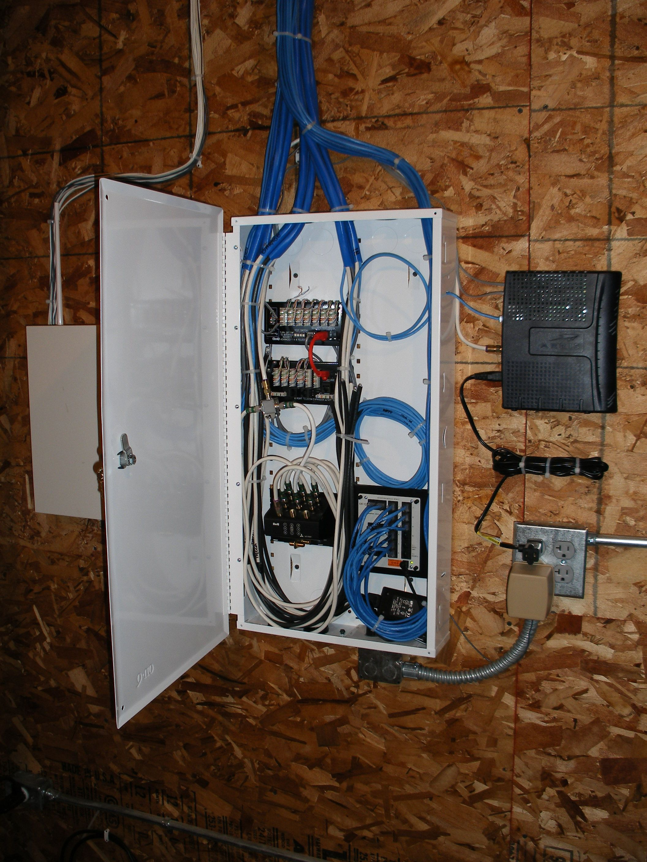 whole house structured wiring networking set ups cabinets panels picture  [ 2112 x 2816 Pixel ]